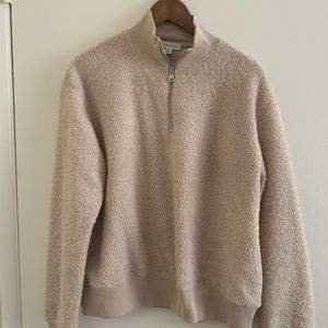 TopShop over sized sweater with zipper collar